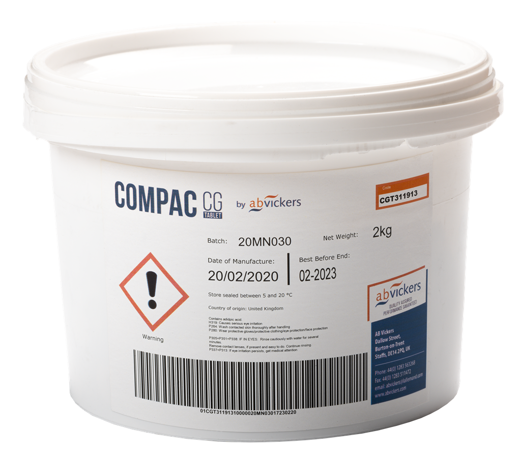 Compac CG Kettle Fining Agent - Tablets